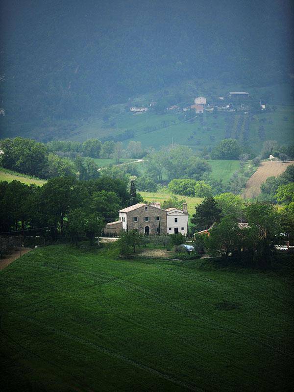 Panorama casa di campagna