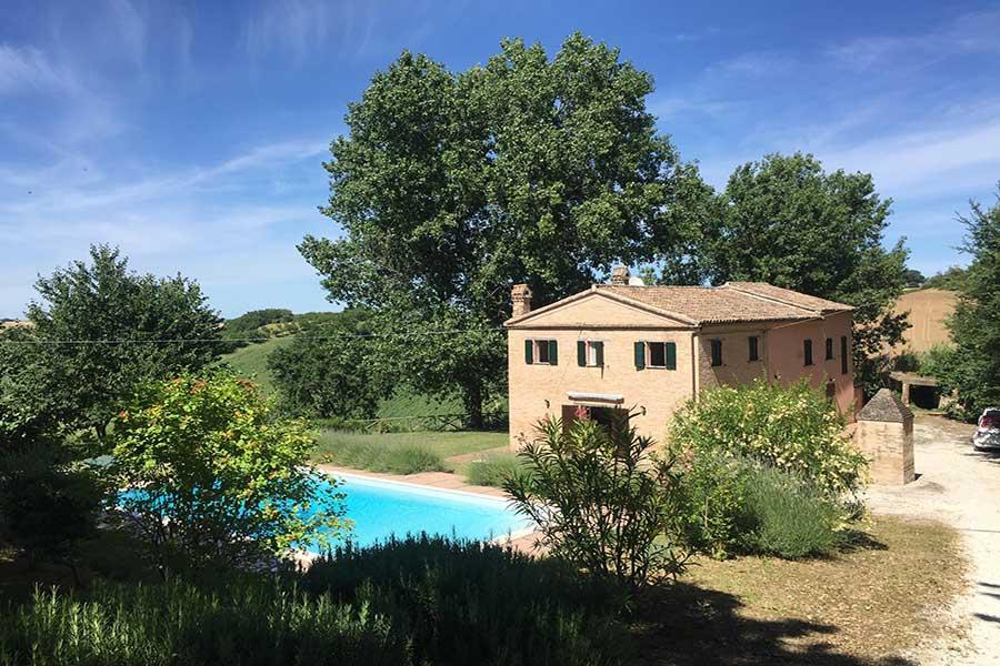 la piscina di casa rosa