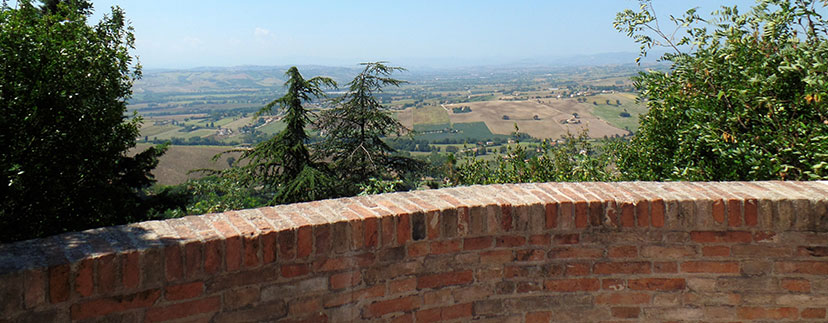 panorama da Colle dell'Infinito a Recanati